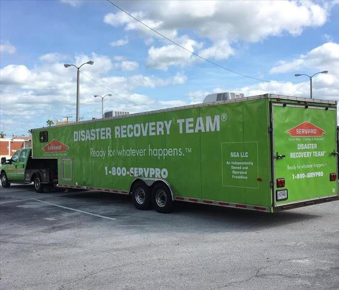 Parked Disaster Recovery Truck.