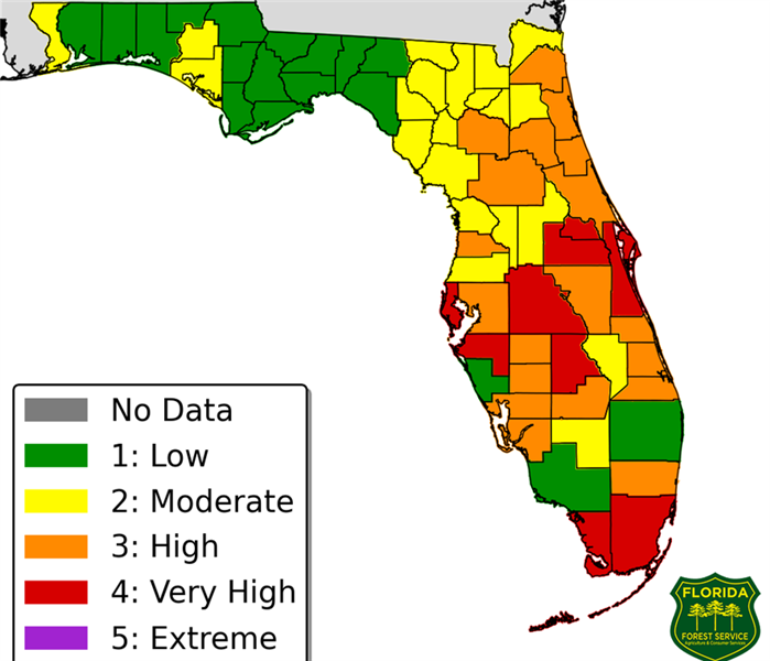 Fire Damage Wildfire Danger Index